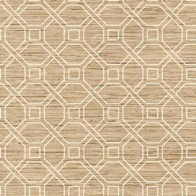 COASTAL TRELLIS PEEL & STICK WALLPAPER