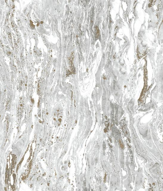 SILVER MARBLE SEAS PEEL & STICK WALLPAPER