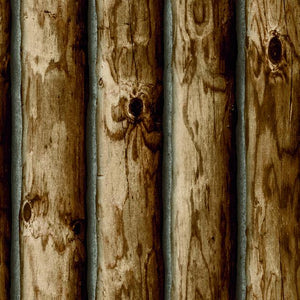CABIN LOGS PEEL & STICK WALLPAPER