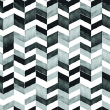 Load image into Gallery viewer, PAUL BRENT WATERCOLOR CHEVRON PEEL & STICK WALLPAPER