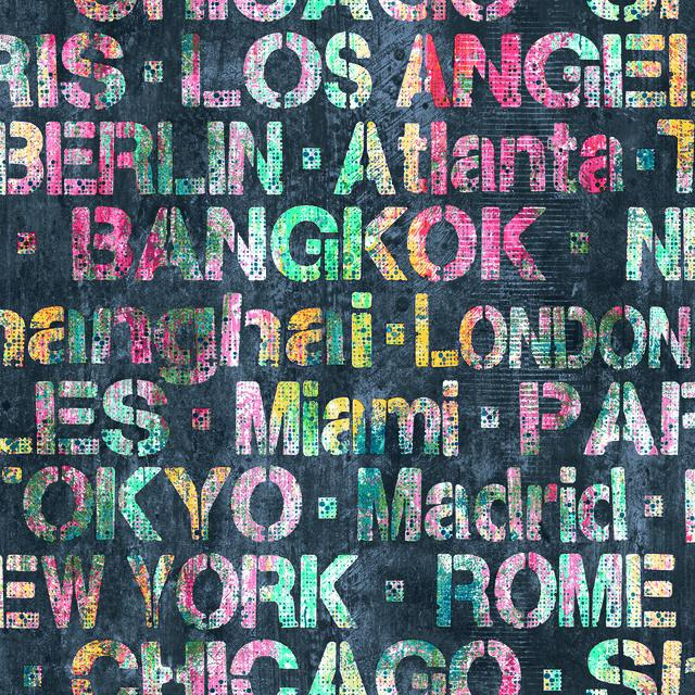 CITIES OF THE WORLD PEEL & STICK WALLPAPER