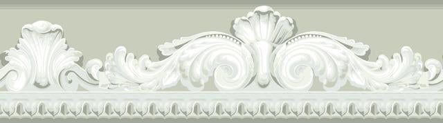ARCHITECTURAL SCROLL PEEL & STICK BORDER