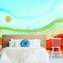 Load image into Gallery viewer, SEA FOAM PEEL & STICK WALLPAPER MURAL