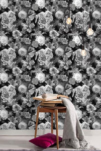 VINTAGE FLORAL BLOOMS PEEL & STICK WALLPAPER