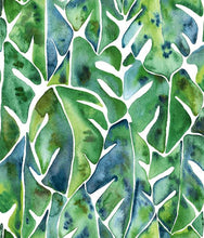 Load image into Gallery viewer, Give walls an zesty transformation with Cat Coq Green Philodendron Peel and Stick Wallpaper by RoomMates. This brightly-co...