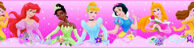 DISNEY PRINCESS DREAM FROM THE HEART PEEL & STICK WALLPAPER BORDER