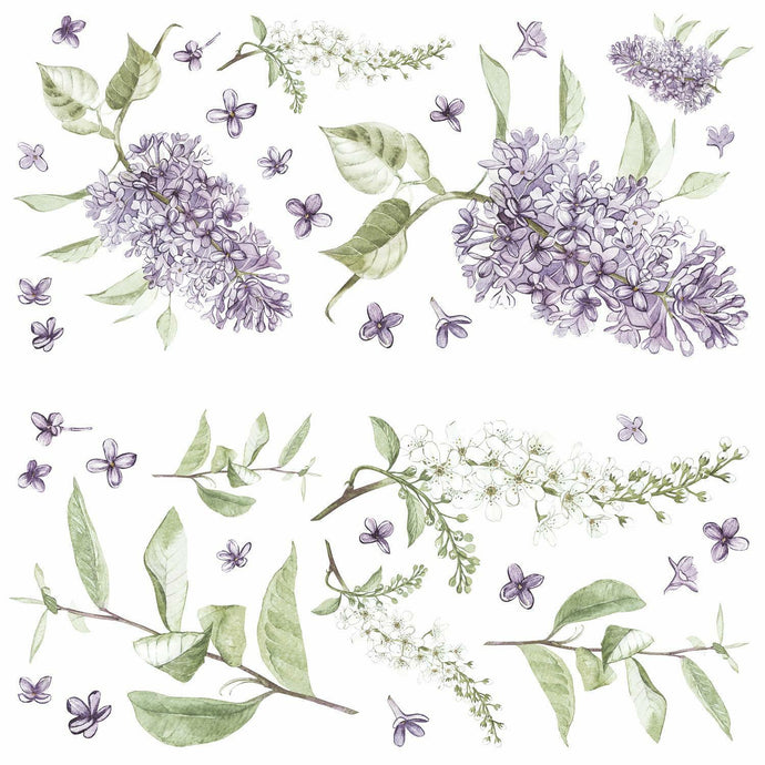 LILAC PEEL AND STICK GIANT WALL DECALS