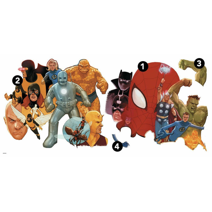 MARVEL AVENGERS CLASSIC PEEL AND STICK GIANT WALL DECALS
