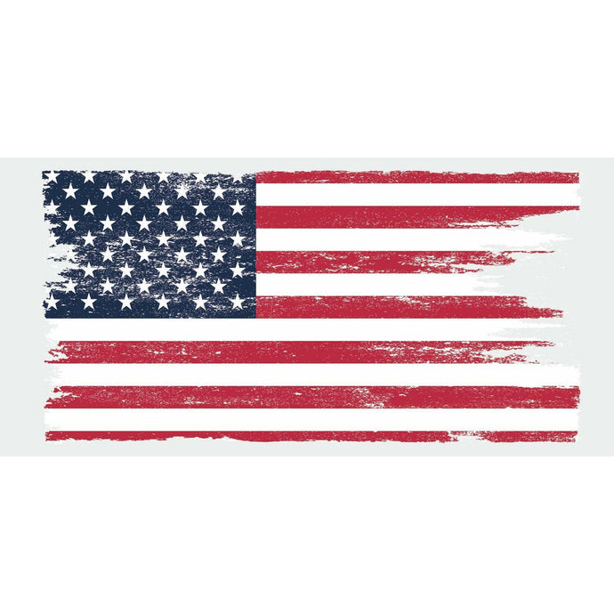 DISTRESSED AMERICAN FLAG GIANT PEEL AND STICK WALL DECALS