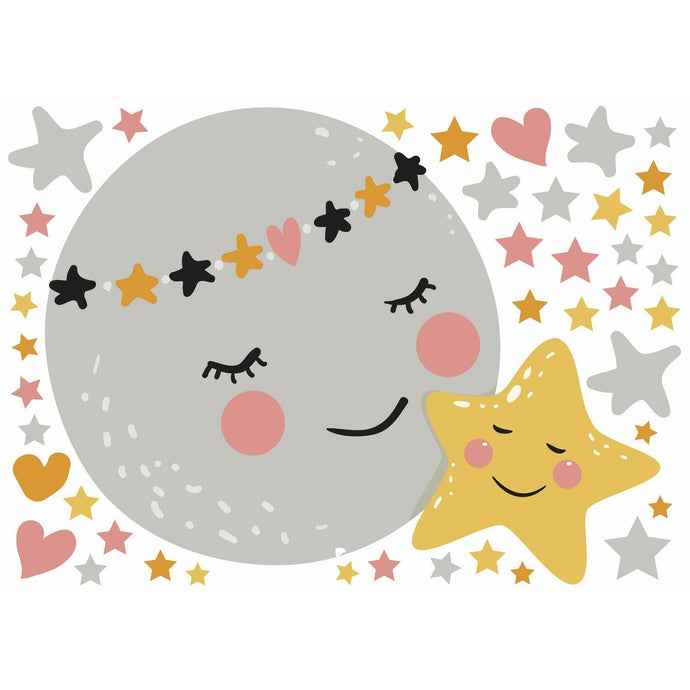 MOON AND STAR PEEL AND STICK GIANT WALL DECALS