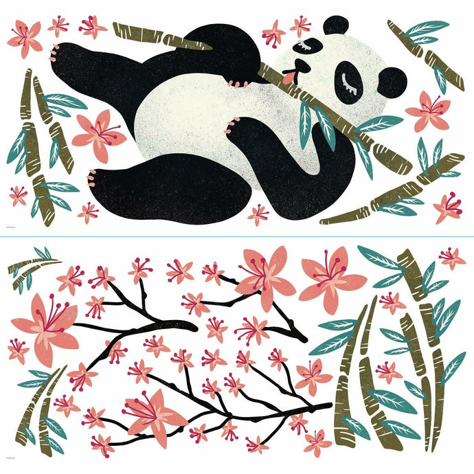 CATCOQ PANDA GIANT PEEL AND STICK WALL DECALS