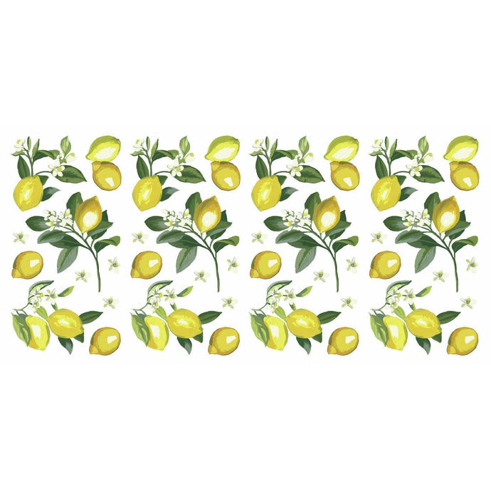 LEMON PEEL AND STICK WALL DECALS