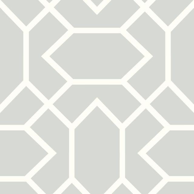 MODERN GEOMETRIC LT GREY PEEL & STICK WALLPAPER