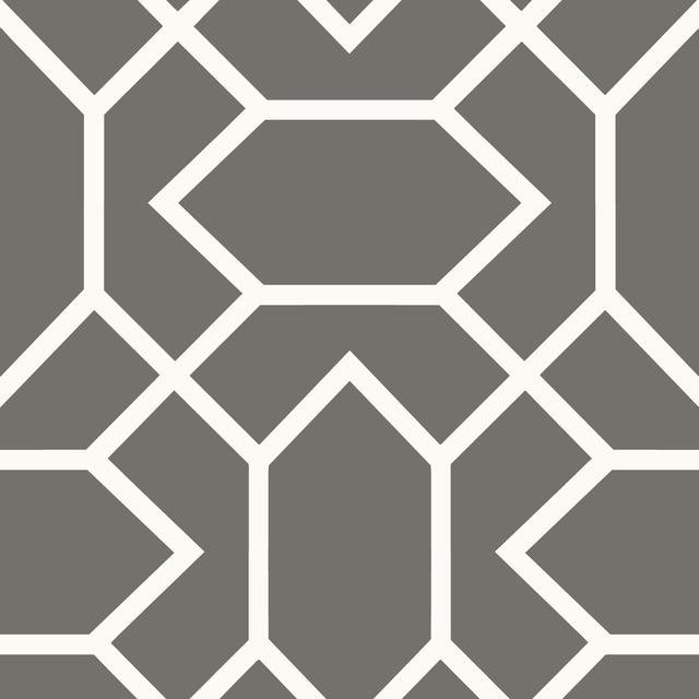 MODERN GEOMETRIC DK GREY PEEL & STICK WALLPAPER