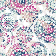 Load image into Gallery viewer, BOHEMIAN PINK/BLUE PEEL & STICK WALLPAPER