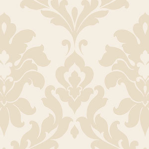 SD25711 Tone on Tone Cream Damask