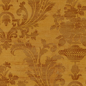 SM30355 dark gold and burgundy damask