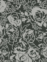 Load image into Gallery viewer, Sw29240. Black bg. Silver roses