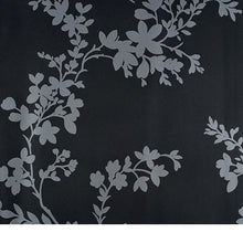 Load image into Gallery viewer, Vg26268. Charcoal bg.  Silver vines and leaves