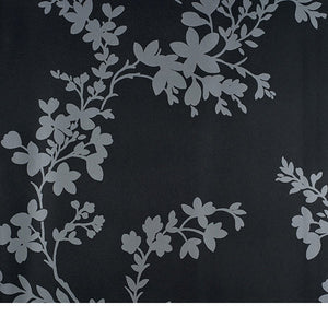 Vg26268. Charcoal bg.  Silver vines and leaves