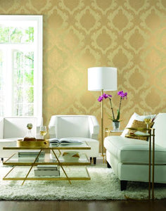 Mixed Metals Chantilly Lace Wallpaper