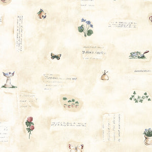 wallpaper, wallpapers, botanical, leaves, flowers, butterflies, script, gardening, tools