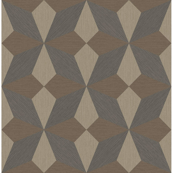 Valiant Multicolor Faux Grasscloth Geometric Wallpaper