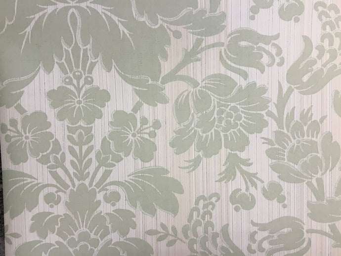 AW51031 Green floral damask