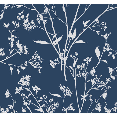 Southport Navy Delicate Branches Wallpaper
