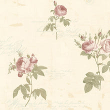 Load image into Gallery viewer, wallpaper, wallpapers, leaves, stems, floral, flowers, roses, script