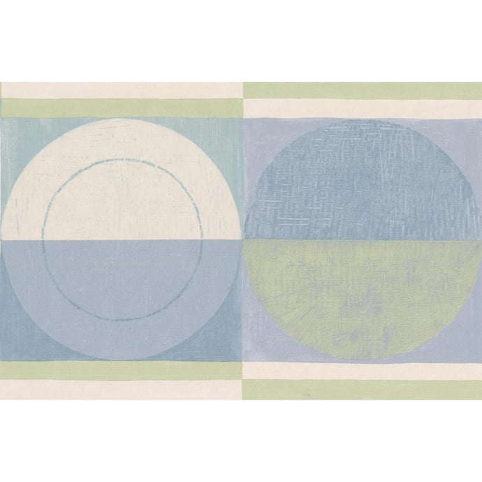 CT78162L blue and green pastel geo. Border