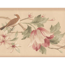 Load image into Gallery viewer, Cream get.w/pink flowers ad bird. HM79331N