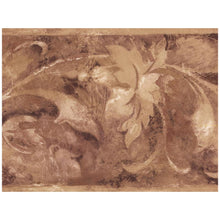 Load image into Gallery viewer, Sepia Beige Abstract Floral Prepasted Wallpaper Border