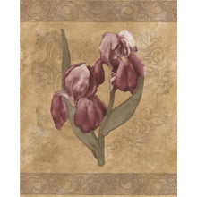 Load image into Gallery viewer, White Purple Flowers Brown Floral Prepasted Wallpaper Border