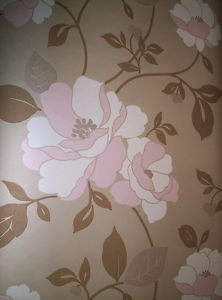 SW29216. Brown and dusty rose floral