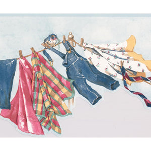 Clothes Hanging on Drying Line