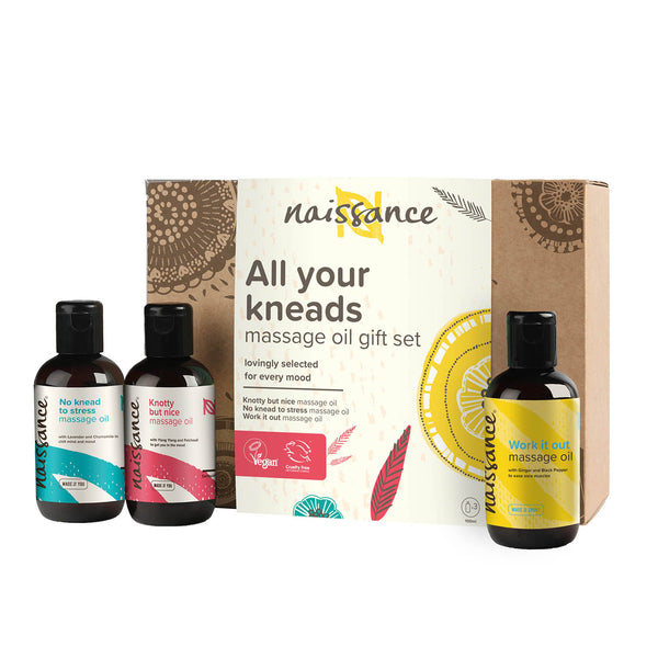 All your kneads massage oil giftset