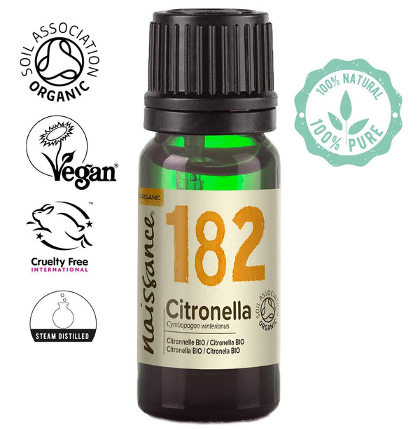 Naissance steam distilled Organic Citronella Essential Oil