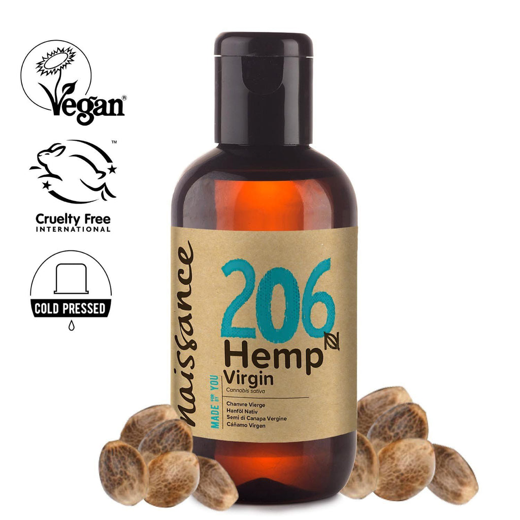 Naissance 100% Pure Cold Pressed Virgin Hemp Seed Oil.