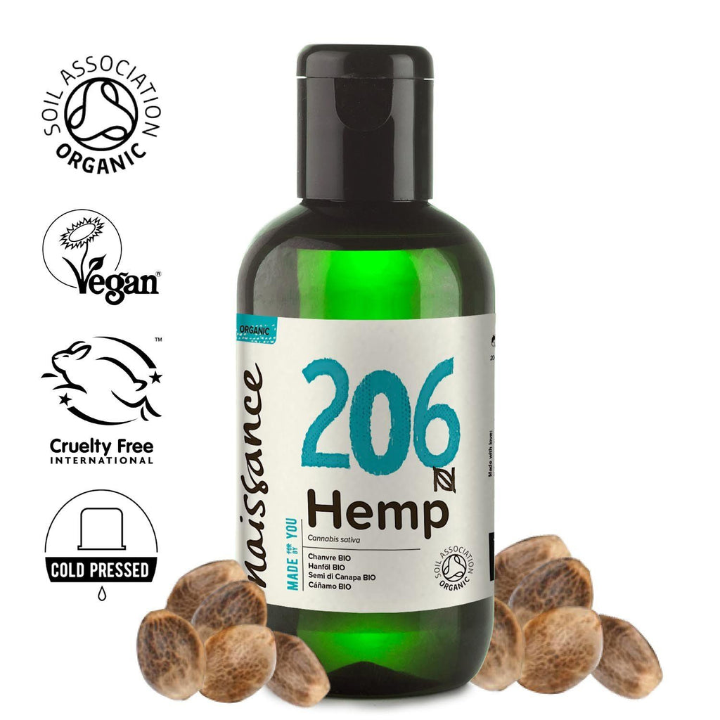 Naissance 100% Pure Cold Pressed Organic Hemp Seed Oil.