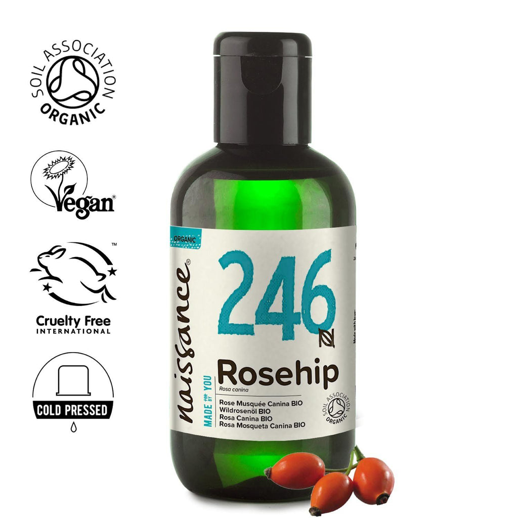 Naissance 100% Pure Cold Pressed Organic Rosehip Oil.
