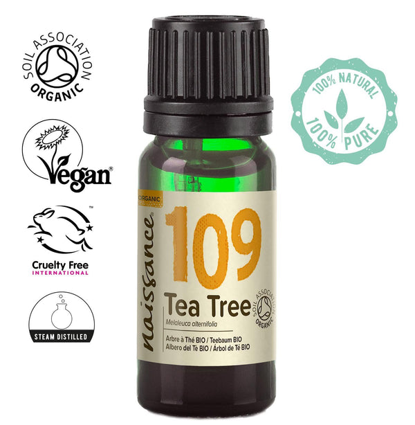 Naissance steam distilled Organic Tea Tree Essential Oil