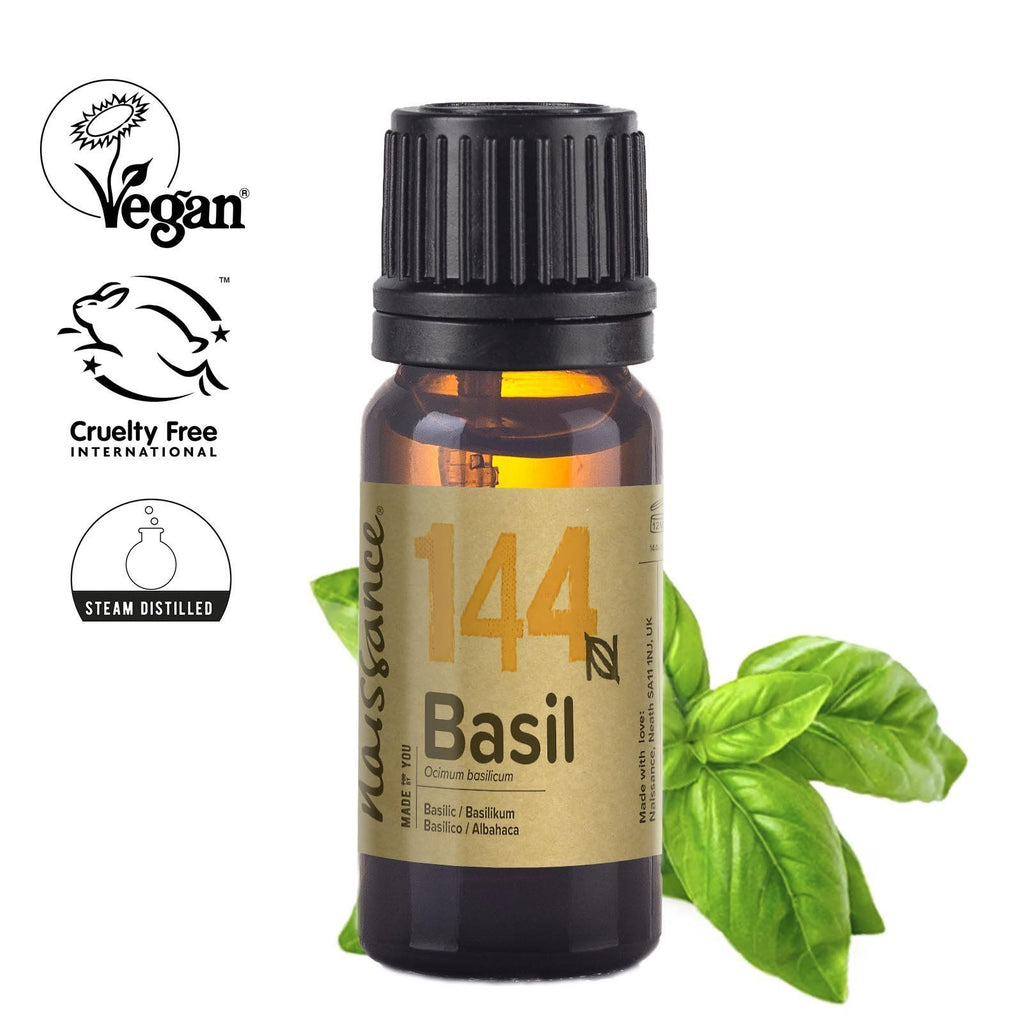 Naissance 100% pure steam distilled Basil Essential Oil