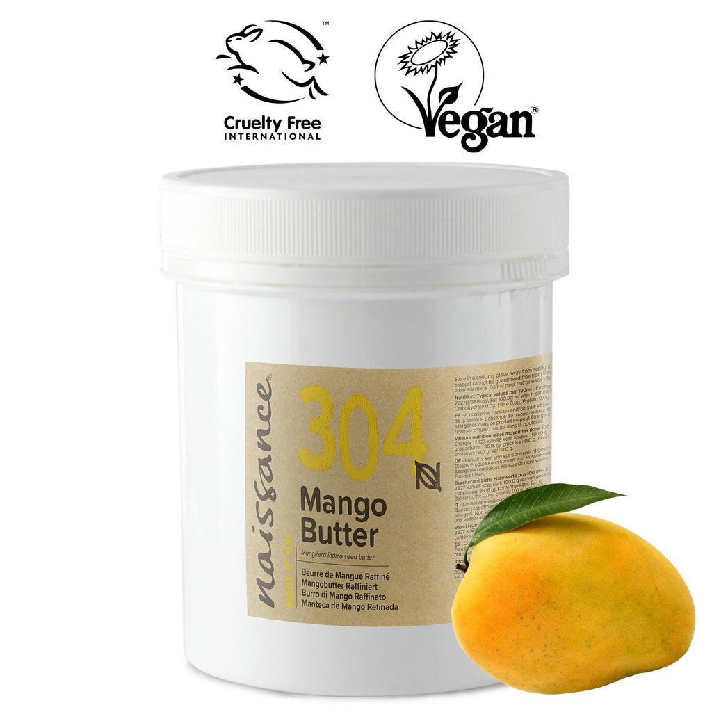 Naissance 100% Pure, Cold Pressed, Refined Mango Butter
