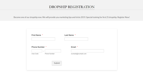 Dropship Registration Sis Jual