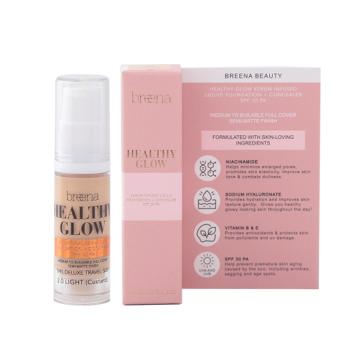 TRIAL Healthy Glow Serum Infused Liquid Foundation + Concealer SPF 30 in 2.0 LIGHT  (5ML)