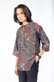 Rias Kurta Batik Purple/Blue