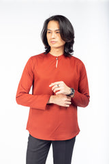 Kurta Plain Brick Orange