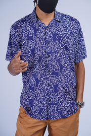 Batik Shirt Dark Blue