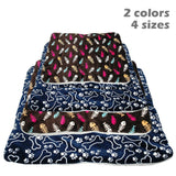 Winter Dog Bed Mat Pet Cushion Blanket Warm Paw Print Puppy Cat Fleece Beds For Small Large Dogs Cats Pad Chihuahua Cama Perro